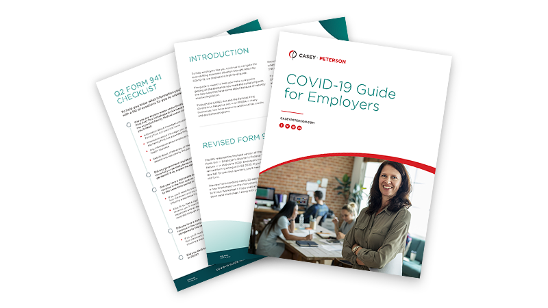 Mockup of COVID-19 Employers Guide PDF